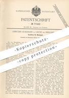 Original Patent - Gebrüder Kuhlmann , Grüne / Iserlohn , 1894 , Sandform Für Metallguss | Guss - Form | Eisen , Stahl ! - Historische Dokumente