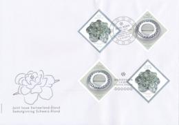 Zumstein 11561-1562 / Michel 2408-2409 Gemeinschftsausgabe Schweiz - Aland - Combo FDC - FDC