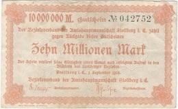 Alemania (NOTGELD) - Germany 10.000.000 Mark 1-9-1923 Stollberg DNDI 4892 E.6 Ref 3 - [11] Emisiones Locales