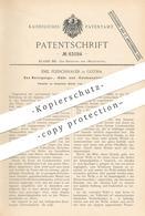Original Patent - Emil Fleischhauer , Gotha , 1893 , Reinigen , Kühlen U. Kondensieren Von Gas | Gase , Gasfabrik !!! - Historische Dokumente