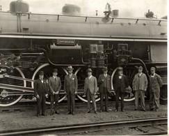 CONFEDERATION CHEMIN DE FER Train Railway 24*18 CM Fonds Victor FORBIN 1864-1947 - Trenes
