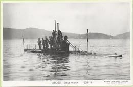 ALOSE  Sous-marin  1904-14 / Photo Marius Bar, Toulon / Marine - Bateaux - Guerre - Militaire - Warships