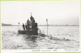 ANGUILLE Sous-marin  1904 / Photo Marius Bar, Toulon / Marine - Bateaux - Guerre - Militaire - Warships
