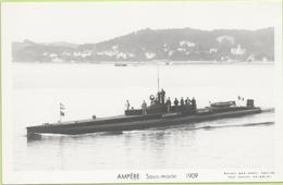 AMPERE Sous-marin  1909 / Photo Marius Bar, Toulon / Marine - Bateaux - Guerre - Militaire - Warships