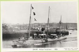 SALVE  AVISO TORPILLEUR  1886 / Photo Marius Bar, Toulon / Marine - Bateaux - Guerre - Militaire - Guerra