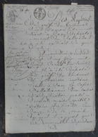 Manuscrit De1818.Succession Cordival à Merville,Varaville,avec Journal D'annonces Et Hypothèques. - Manuscrits
