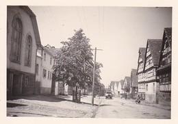 Foto Stadt In Deutschland - Lastwagen - Fachwerkhäuser - Ca. 1940 - 8*5,5cm  (42200) - Orte
