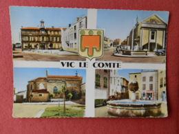 Dep 63 , Cpm VIC LE COMTE , Souvenir , H.8019 , Multivues (259) - Vic Le Comte