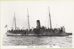FLEURUS  AVISO TORPILLEUR  1893 / Photo Marius Bar, Toulon / Marine - Bateaux - Guerre - Militaire - Guerre