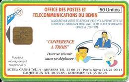 CARTE PUCE-BENIN-120U-CONFERENCE A TROIS-TBE - Bénin