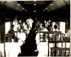 CANADIAN NATIONAL RAILWAYS VOITURE RESTAURANT CANADA CHEMIN DE FER Train Railway 24*18 CM Fonds Victor FORBIN 1864-1947 - Trenes