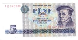 East Germany , 5 Mk 1975, P-27. UNC.. - [ 6] 1949-1990: DDR - Duitse Dem. Rep.