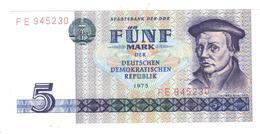 East Germany , 5 Mk 1975, P-27. UNC.. - [ 6] 1949-1990 : RDA - Rép. Dém. Allemande