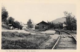 B&W - Weir Montcalm Québec Via Route 364 - Railway Station & Main Street - Gare Rue - Unused - 2 Scans - Quebec