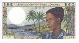 BILLETE DE  COMORES DE 1000 FRANCS DEL AÑO 1984 SIN CIRCULAR-UNCIRCULATED - Comoros