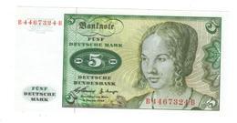East Germany , 5 Mk 1960. UNC.. - [ 7] 1949-… : RFD - Rep. Fed. Duitsland