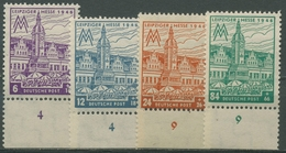 SBZ West-Sachsen 1946 Leipziger Messe Mit WZ Y 162/65 A Y UR Postfrisch Gezähnt - Soviet Zone
