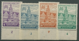 SBZ West-Sachsen 1946 Leipziger Messe Mit WZ X 162/65 A X Unterrand Postfrisch - Zone Soviétique