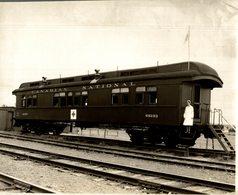 CANADIAN NATIONAL  HOSPITAL WAGON CANADA CHEMIN DE FER Train Railway 24*18 CM Fonds Victor FORBIN 1864-1947 - Trenes