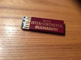 """Boîte D'allumettes ROUMANIE """"HOTEL INTER CONTINENTAL - BUCHAREST"""" - Zündholzschachteln"""