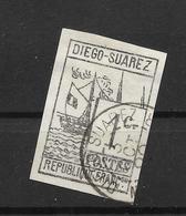 DIEGO-SUAREZ, N°6 Oblitéré Cote 270€ - Diégo-Suarez (1890-1898)
