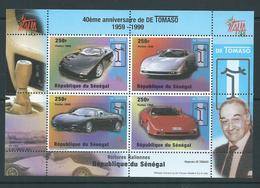 Senegal 1998 Tomaso Motor Car Anniversary Miniature Sheet Of 4 MNH - Senegal (1960-...)