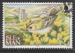 Isle Of Man 1994 Ornithological Observatory Of Calf Of Man 24 P Multicolored SW 562 O Used - Isle Of Man