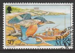 Isle Of Man 1994 Ornithological Observatory Of Calf Of Man 30 P Multicolored SW 564 O Used - Isle Of Man