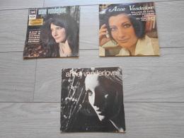 Lot : 3/45T. Anne VANDERLOVE. Ballade En Novembre - Dites Moi - Ballade En Avril - Lamento - Tous Les Bateaux - Ondine - Vinyles