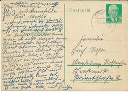 Germany > [6] Democratic Republic > Stamped Stationery > Postcards - Used 1957 - Leinefelde - Postkarten - Gebraucht