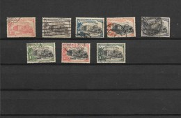 CHILE 1923 V PANAMERICAN CONFERENCE SCOTT  146/53 MI 134/141 SET OF 8 USED VF - Chile
