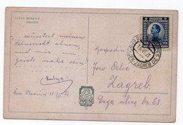 1921 YUGOSLAVIA, CROATIA, OSIJEK - ZAGREB, TPO 20, YOUNG GIRL, ILLUSTRATED POSTCARD, USED - Yugoslavia