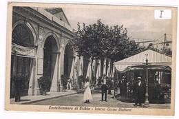Castellammare Di Stabia Napoli 1904   Interno Terme Stabiane Animatissima Gazebo Anni 30 - Napoli (Naples)