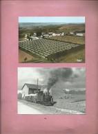 2 Cartes - Cerny En Laonnois  - Chemin De Fer De La Sucrerie D' Oeuilly - Maizy ( Locomotive ) - France