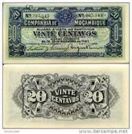 MOZAMBIQUE 20 Centavos 1933 R 29 **UNC** - Mozambique