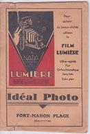 Pochette De Photos (vide) FILM  LUMIERE - Photographie  IDEAL PHOTO  FORT MAHON PLAGE SOMME - Matériel & Accessoires