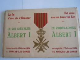Le Roi Chevalier De Ridder-koning Albert I Mort Verongelukt Marche-les-Dames 10 Cartes Vues Alpinisme Nels - Namur