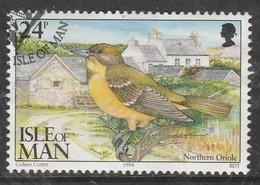 Isle Of Man 1994 Ornithological Observatory Of Calf Of Man 24 P Multicolored SW 563 O Used - Isle Of Man