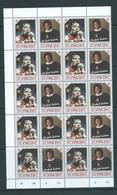 St Vincent 1985 Michael Jackson $1 Pair X 25 As Separated Full Sheet With Margins MNH - St.Vincent & Grenadines