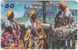 BRASIL I-516 Magnetic Telemar - Painting, People, Woman - Used - Brésil