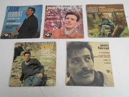 Lot: 5/45T. Jean FERRAT. A Brassens - La Montagne - Potemkine - A Santiago - C'est Toujours La Première Fois - Vinyles