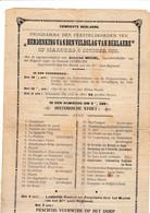 BERLARE / BERLAERE / 1919  / AFFICHE HISTORISCHE STOET / ZEER ZELDZAAM - Documents Historiques