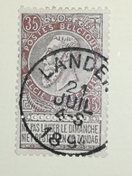 COB N ° 61 Oblitération Landen 1894 - 1893-1900 Fine Barbe