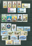 """St Kitts Royals Ships Planes More """"SPECIMEN"""" OVPT LOT Of 26 Incl 6 SETS MNH WYSIWYG A04s - St.Kitts And Nevis ( 1983-...)"""
