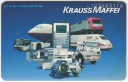 GERMANY O-Serie A-856 - 1217 10.96 - Traffic, Airplane, Train, Truck - Used - Allemagne