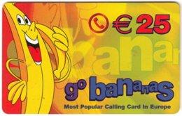 GERMANY Prepaid B-585 - Go Bananas - Cartoon, Fruit, Banana - Used - Germany