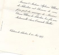 Mariage 1907 Annie Ormonde Bitler & Etienne Ullens De Schooten Schoten Hill Sides Caterham Surrey - Annunci Di Nozze