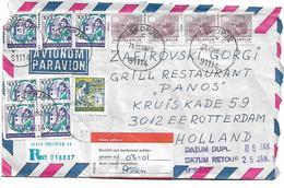 Yugoslavia Send And Return From Holland - Yougoslavie