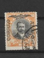 CHILE 1928 - 1932  PERSONALITIES OERPRINTED AIRMAIL 10 PESOS ORANGE   USED SCOTT  C 14 MICHEL 175 - Chile