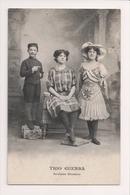 K-988 Trio Guerra Acrobates Mondains Circus Sideshow Postcard Performers - Famous People